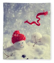 Winter Snowman Fleece Blanket