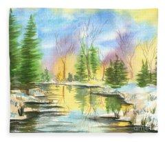 Winter Stillness Fleece Blanket
