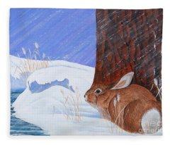 Winter Storm Approaching Fleece Blanket