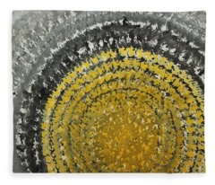 Winter Sun Original Painting Fleece Blanket