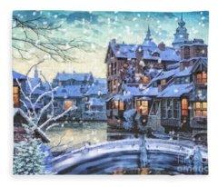 Winter Twilight Fleece Blanket