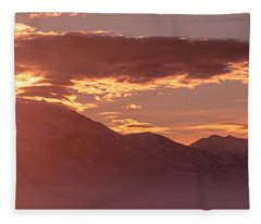 Winter Wasatch Daybreak Fleece Blanket