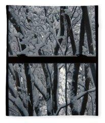 Winter Window Fleece Blanket