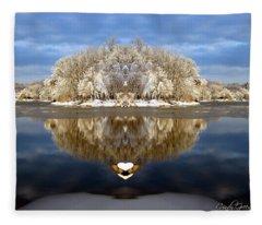 Winter Wonderland Love Fleece Blanket