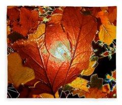 winters autumn in Pasadena Fleece Blanket