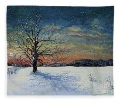 Winters Eve Fleece Blanket