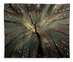 Winter's Trance Fleece Blanket