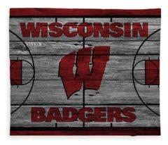 Wisconsin Badger Fleece Blanket