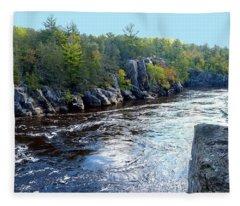 Wisconsin Shores 1 Fleece Blanket