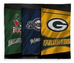 Wisconsin Sports Teams Fleece Blanket