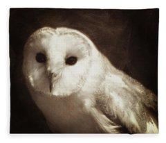 Wisdom Of An Owl Fleece Blanket