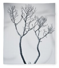 Wishbone Tree Fleece Blanket