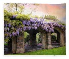 Wisteria In May Fleece Blanket