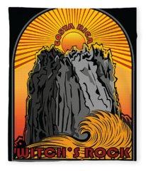 Surfing Witch's Rock Costa Rica Playa Naranjo Fleece Blanket