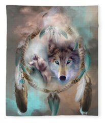 Wolf - Dreams Of Peace Fleece Blanket