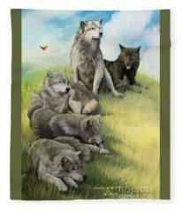 Wolf Gathering Lazy Fleece Blanket