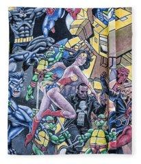 Wonder Woman Abstract Fleece Blanket