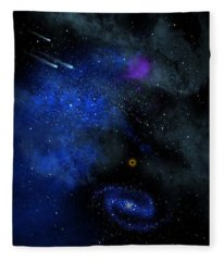 Wonders Of The Universe Mural Fleece Blanket
