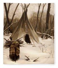 Wood Gatherer Fleece Blanket