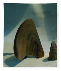 Wood Zen Harmony Fleece Blanket