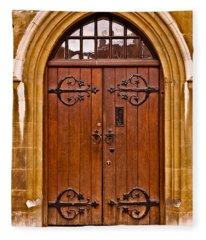 Wooden Door At Tower Hill Fleece Blanket