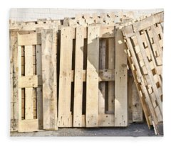 Wooden Pallets Fleece Blanket
