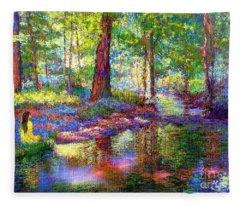Woodland Rapture Fleece Blanket