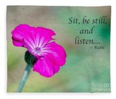 Words From Rumi Fleece Blanket