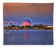 World Showcase Lagoon Sunset Fleece Blanket