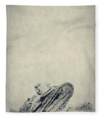 World War I Tank In Trench Warfare Fleece Blanket