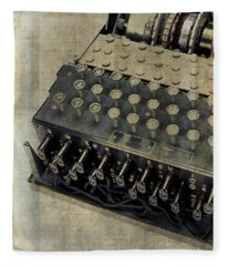 Fleece Blanket featuring the photograph World War II Enigma Secret Code Machine by Edward Fielding