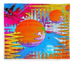 Worlds Apart Fleece Blanket