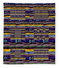 Woven Southwestern Sampler Fleece Blanket