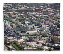 Wrigley Field - Home Of The Chicago Cubs Fleece Blanket