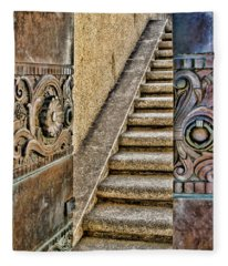 Wrigley's Bronze Doors By Diana Sainz Fleece Blanket