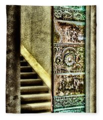 Wrigley's Tower Bronze Doors By Diana Sainz Fleece Blanket