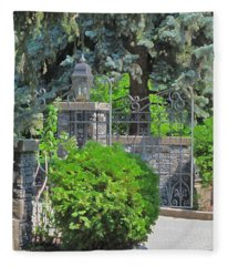 Wrought Iron Gate Fleece Blanket