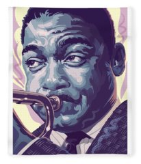 Wynton Marsalis Portrait 2 Fleece Blanket