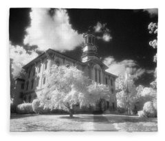 Wyoming County Courthouse Fleece Blanket
