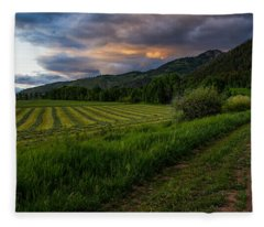 Wyoming Pastures Fleece Blanket