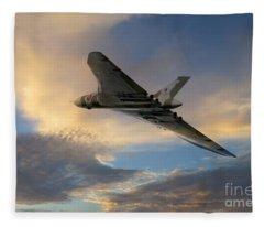 Xh558 Take Off  Fleece Blanket