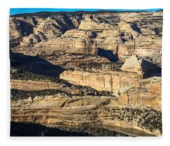 Yampa River Canyon In Dinosaur National Monument Fleece Blanket