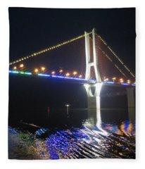 Yangtze Reflection Fleece Blanket