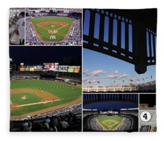 Yankee Stadium Collage Fleece Blanket