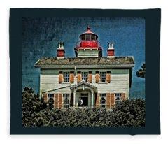 Yaquina Bay Lighthouse Fleece Blanket