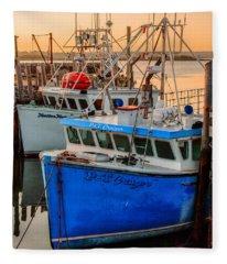 Yarmouth Harbour Fleece Blanket