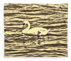 Fleece Blanket featuring the photograph Ye Olde Swan by Shawn Dall