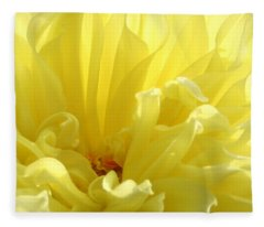 Yellow Dahlia Burst Fleece Blanket