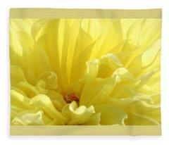 Yellow Dahlia Burst Fleece Blanket