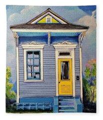 Yellow Door Shotgun  Fleece Blanket